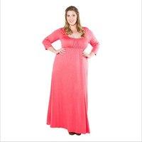 2018 Red Casual Dress Plus Size Winter Dress Long Maxi Dress Robe Vintage Casual Women Elegance