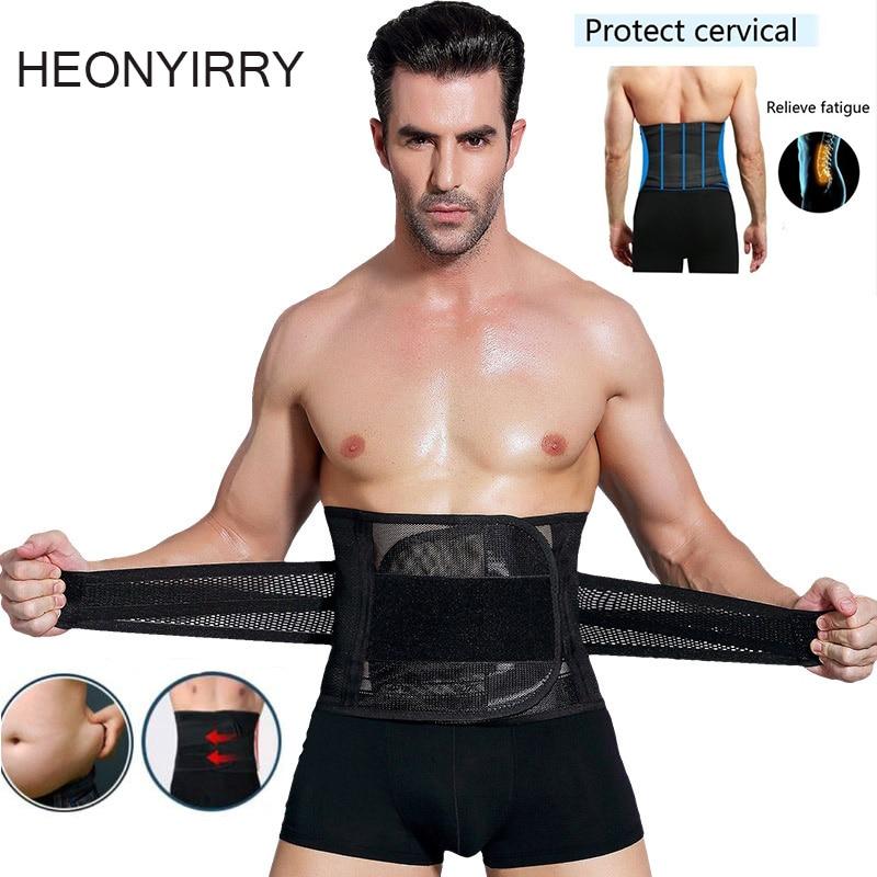Waist Belt for Men New Abdomen Fat Burning Girdle Belly Body Sculpting Shaper corset Cummerbund Tummy Slimming Belt Weight Loss
