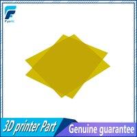 2 pcs 300*300*0.3mm PEI PEI Fosco Amarelo 3D Impressão a Frio Folha com 3 M 468MP Polieterimida adesivo 0.3mm de espessura