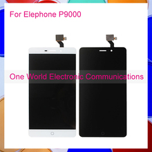 1pcs/lot 5.5″ Display For Elephone P9000 LCD Touch Screen Digitizer Complete Assembly Black White Tracking Code Free Shipping