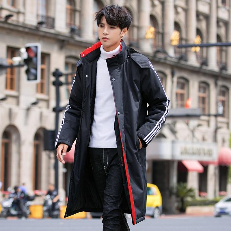 2019 Winter Jackets Men Thick Warm Blouse   Parka   Mens Casual Hooded Jacket Outerwear Overcoats Men Down Windbreaker Trench Coat