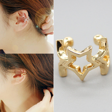 Fashion No Pierced Earrings Non-piercing Earcuff Ear Gold/Rose Gold/Silver Color Hollow Star Clip-on Clip Women Jewelry