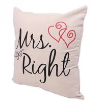 Pillow Case Mr and Mrs Always right Printed Wedding Gift Pillow Cover Home Use Pillowcases for pillows 41*41cm