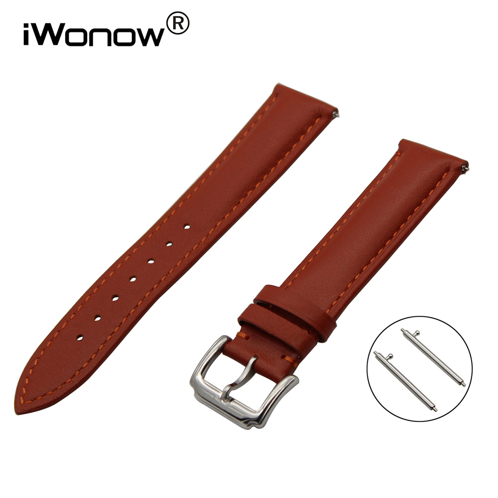 First Layer Genuine Leather Watch Band 18mm 20mm for DW Daniel Wellington Stainless Buckle Strap Quick Release Wrist Bracelet