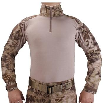 G2 Army Uniform BDU Military Tactical Combat Shirt Pants Suit Men Kryptek Highlander Camouflage Airsoft Sniper Hunting Clothes 3