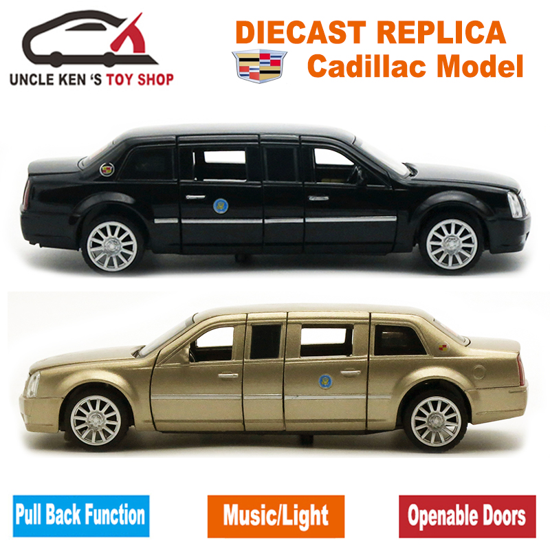 18cm Diecast Cadillac Presidential Limousine Scale Model Metal Toys