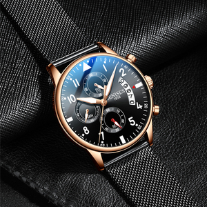 Image 3 - Mens Watch Top Brand Luxury Men Wristwatch Clock Fashion Sport Quartz Watches Male Military Waterproof Chronograph Clock relojes