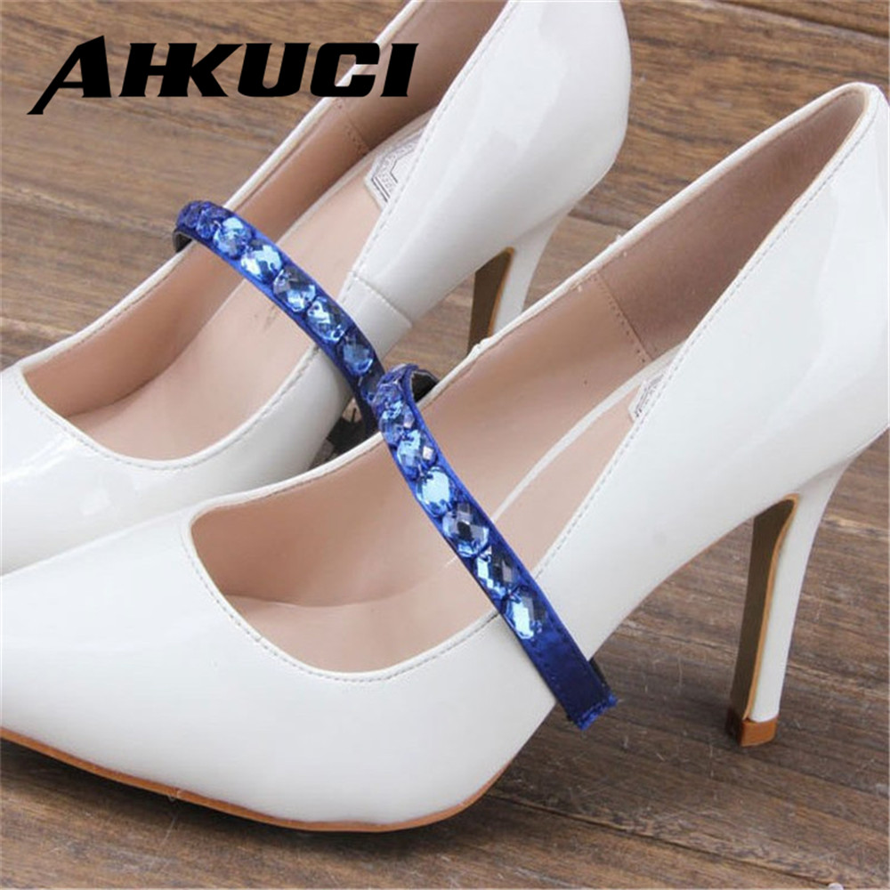 5 pairs Square Crystal Band Elastic Belt Of High Heel Shoe High Quality Band Shoes Accessory