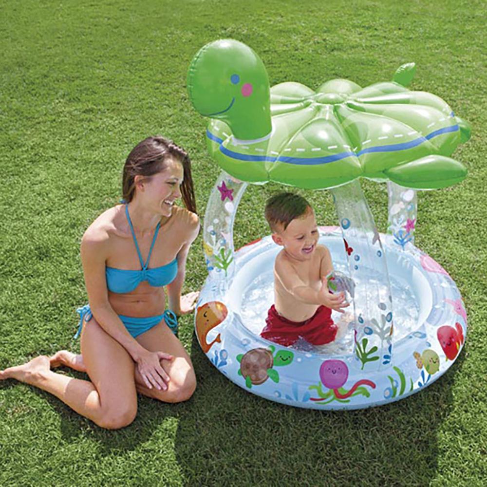 Piscine pour enfants famille gonflage piscine bébé océan balle piscine sable piscine bain jouets tortue ombre #2l11