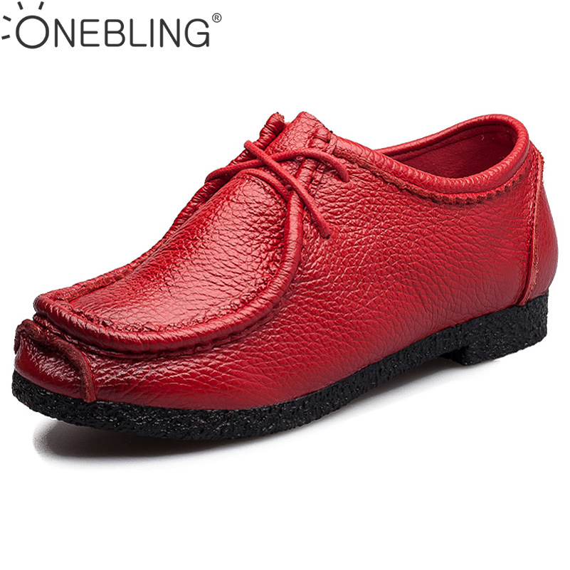 4 Colors Women Genuine Leather Shoes 2017 Spring Autumn Fashion Breathable Soft Lace-up Casual Women Flat Shoes Outdoor ege brand handmade genuine leather spring shoes lace up breathable men casual shoes new fashion designer red flat male shoes