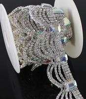 10Yards AB Crystal Rhinestone Chain Trim Diamond Trimming Luxury For Wedding Belt
