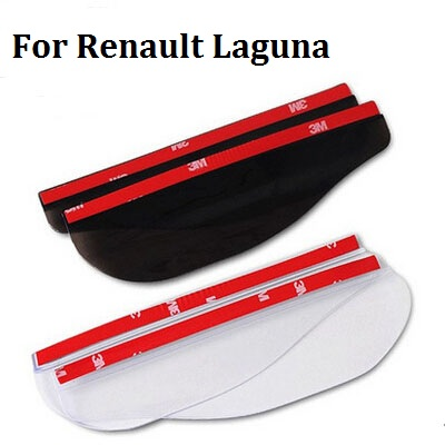 car styling For Renault Laguna Auto Accessories Rearview Mirror Rain Shade Car Back Mirror Eyebrow Rain Cover Rainproof Blades 4pcs set smoke sun rain visor vent window deflector shield guard shade for hyundai tucson 2016