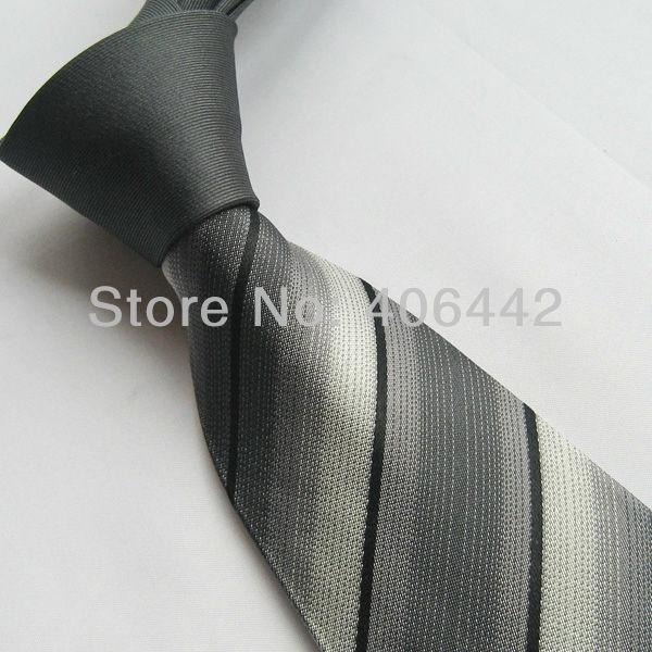 Tissés à la main 100/% pure soie cravate avec noir vert /& rose diagonale rayures