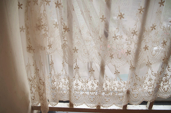 Popular Lace Curtain Fabric-Buy Cheap Lace Curtain Fabric lots ...