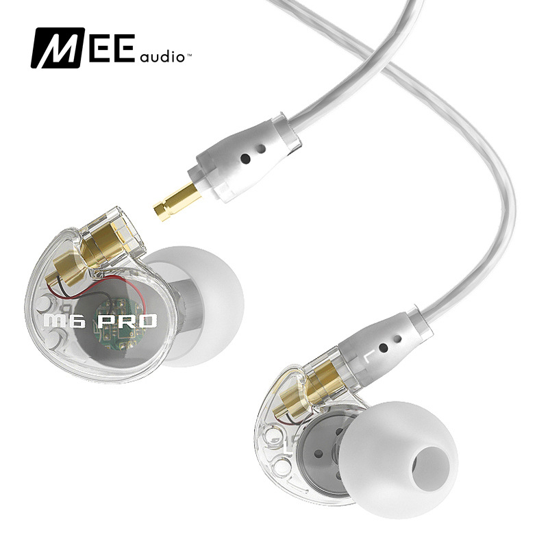 MEElectronics MEE Audio M6 PRO Monitors Bass HIfi Earphone Noise-Isolating DJ Earphone in ear headset M6 black or white PK SE215  in stock 24hrs ship black white wired mee audio m6 pro noise isolating earphones in ear monitors headphones headset with box
