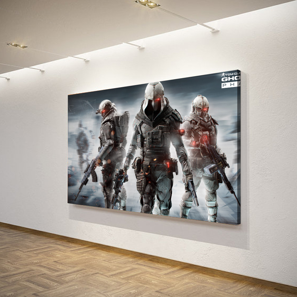 1 Piece Canvas Art Painting Game Tom Clancys Ghost Recon HD Printed Home Decor Poster Pictures For Living Room XA1505C In Calligraphy