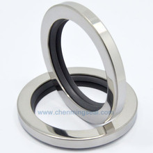 PTFE Oil-Seals for High-Pressure Screw 70--85--10-Mm Dual-Lip Counterclockwise