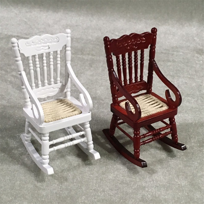 Dollhouse Miniature 1:12 Dolls Chair Furniture 1pcs Action Figure Doll House Decoration Accessories Toys for Children Kids New