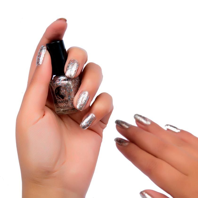 New Top Fashion 6ml Mirror Nail Polish Plating Silver Paste Metal Color Stainless Steel Mirror Silver Nail Polish For Nail Art