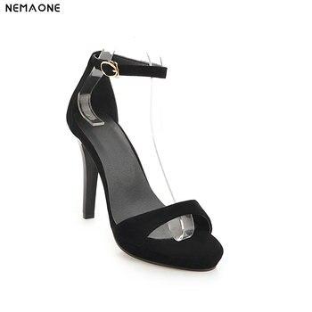Tobillo Zapatos Nemaone Correa Fino Tacón De Alto Sandalias Nueva Mujer BWdroQCxe