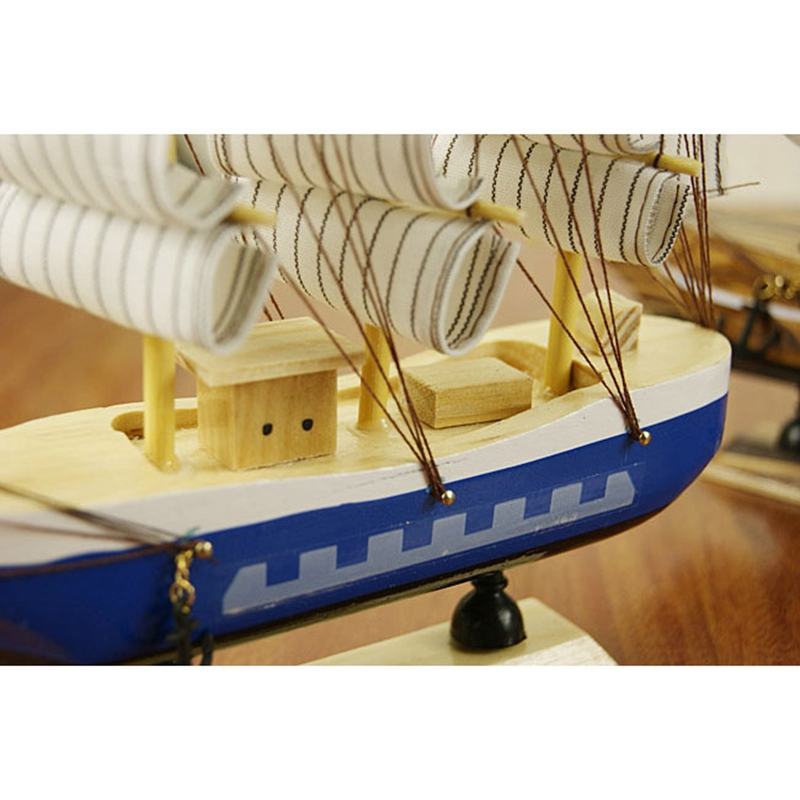 2017 New Wooden Ship Model Miniature Marine Wood SailBoat Wooden ...
