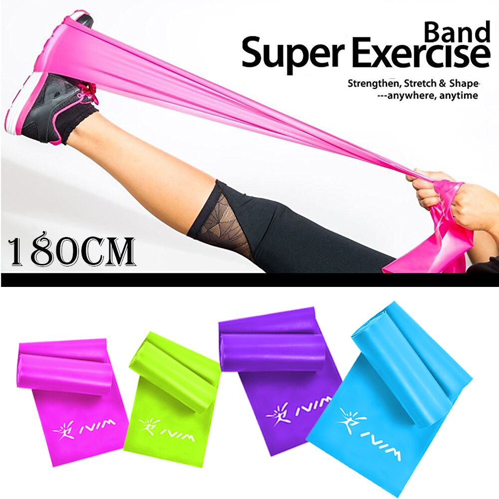 1.8m/1.5m/ Fitness Rubber Resistance Bands Silicone Elastic Muscle Stretch Equipment Yoga Pilates Expander Crossfit Bands
