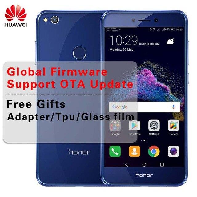 """Глобальной прошивки huawei Honor 8 Lite мобильный телефон 4G LTE, 8 ядер 5,2 """"1920*1080 P сзади 12.0MP 3000 мАч отпечатков пальцев ID"""