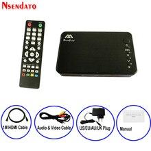 صغير كامل HD وسائل الإعلام متعددة مشغل الوسائط Autoplay 1080P USB الخارجية HDD مشغل الوسائط مع HDMI كابل VGA AV ل SD U القرص MKV RMVB