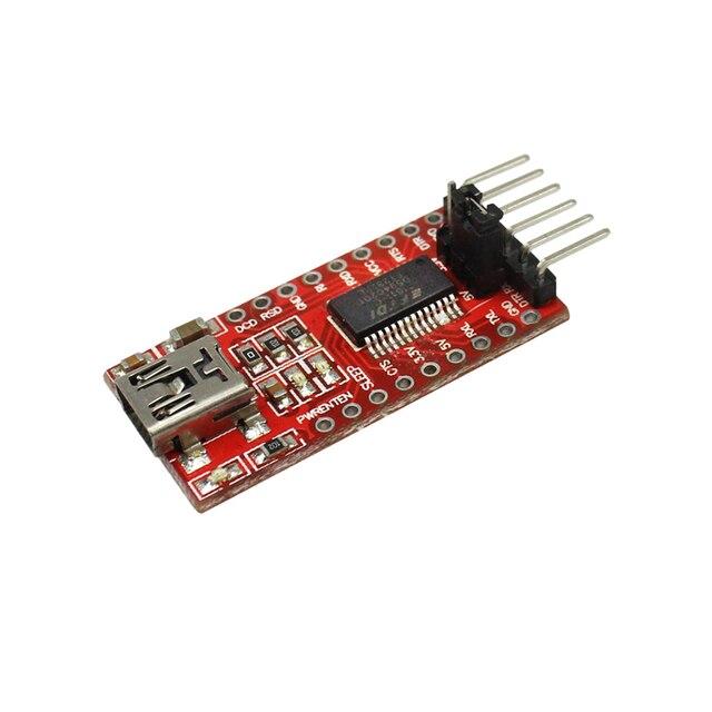 Alta Qualidade FT232RL FT232 FTDI USB 3.3 v 5.5 v para TTL Módulo Serial Adapter Porta Mini