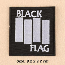 ef840ddf2 Black Flag Patch DIY Metal Rock Punk Retro Indy Music Band Embroidered Sew  Iron On Patch Badge Applique for Clothing Jean jacket