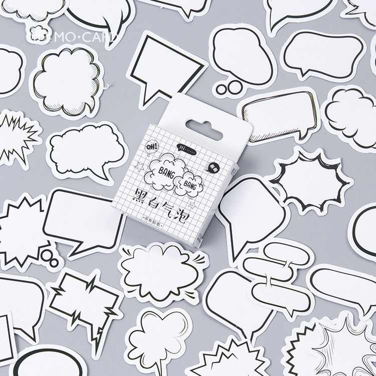 45 unids/caja caja de diálogo creativa álbum pegatinas de papel de etiqueta artesanías y Scrapbooking adhesivo decorativo Lifelog papelería Linda