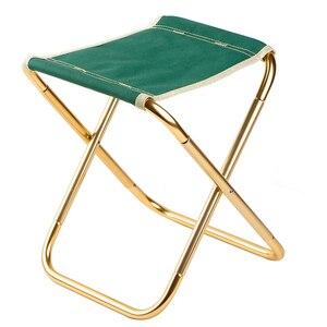 Image 1 - 7075 Al silla plegable portátil asiento de playa ligero 280g oso 100kg pesca Al aire libre muebles vocacion Casual Camping pesca