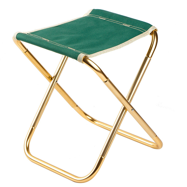7075 Al silla plegable portátil asiento de playa ligero 280g oso 100kg pesca Al aire libre muebles vocacion Casual Camping pesca