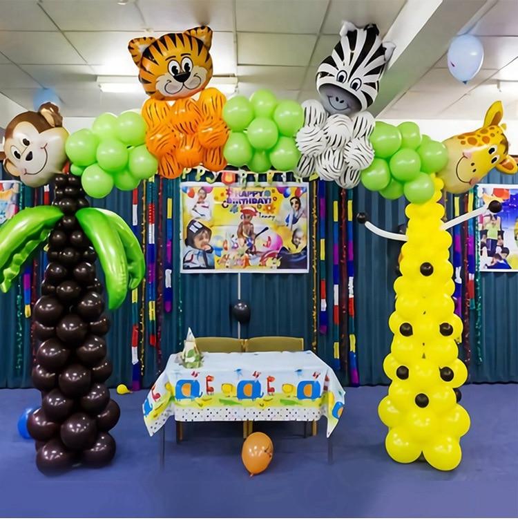 1pc Mini Animal Balloons Jungle Safari Party Baloons Jungle Party