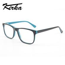 Kirka Men Glasses Frame Optical 2019 Vintage Clear Lens Prescription Spectacles Acetate Eyewear Eyeglasses For