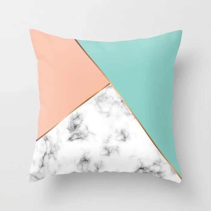 北欧スタイルブラックピンク枕現代ミニマリスト幾何学ストライプ菱形抽象アートクッション家の装飾オフィスチェア
