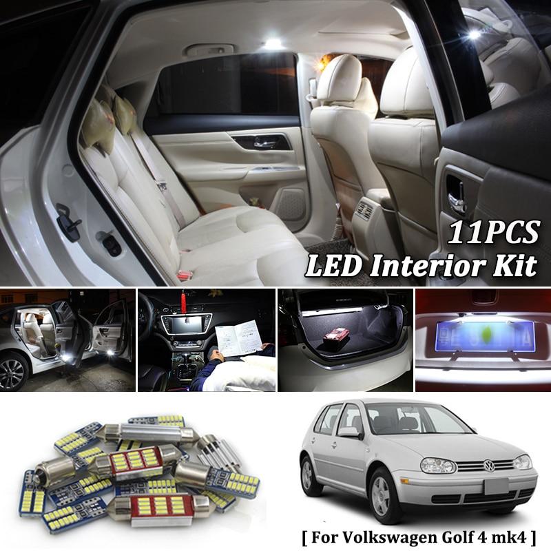 11X White Canbus led Car font b interior b font lights Package Kit for 1997 2000