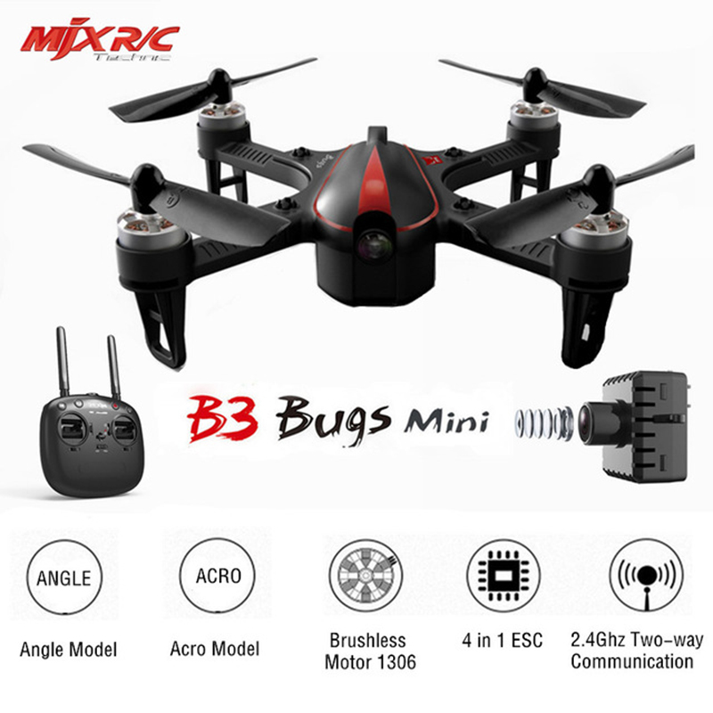 MJX B3 Bugs 3 Mini Drone RC Quadcopter With 1306 2750KV Brushless Motor profession Dron Helicopter Toys mjx bugs 3 rc quadcopter rtf black