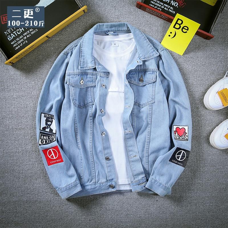 Lente Herfst Bomberjack Mannen Kleding 2019 Koreaanse Vintage Streetwear Jas Jeans Jas Heren Tops Plus Size Veste Homme Zt2678