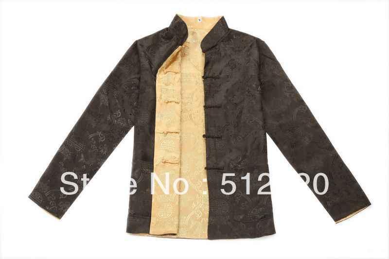 上海ストーリー長袖シャツ繁体字中国語服両面摩耗唐スーツマンダリン襟可逆ジャケット6色