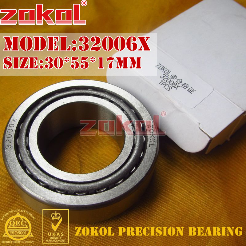 ZOKOL <font><b>bearing</b></font> 32006X 2007106E Tapered Roller <font><b>Bearing</b></font> <font><b>30</b></font>*<font><b>55</b></font>*17mm image
