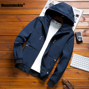 Mountainskin 2020 New Men's Jackets Spring Autumn Casual Coats Hooded Jacket Slim Fashion Male Outwear Mens Brand Clothing SA635