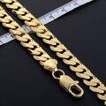 9 mm / 18 - 36 polegada Mens Womens cadeia corte redondo CURB cadeia colar de ouro jóias GF cheio partido usar diariamente DLGN231