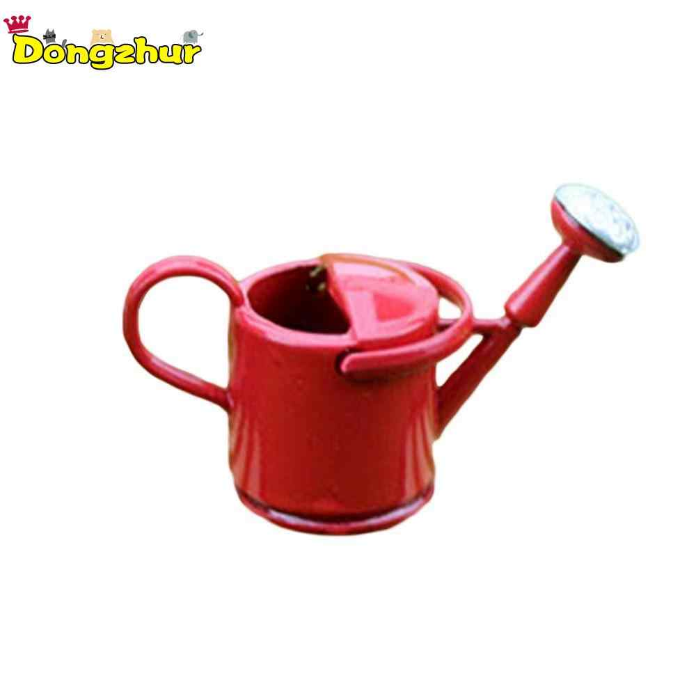 Mini Metal Watering Can Model Simulation Tools Toy for Doll House Decoration For 1/12 Dollhouse Miniature Accessories WWP0839