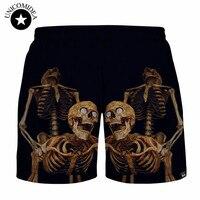 Сексуальная Череп 3D печатных Шорты для женщин джоггеры Шорты для женщин панк хип-хоп Повседневное Короткие штаны, брюки большой Размеры