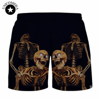 Sexy Skull 3d Printed Shorts Joggers Shorts Punk Hiphop Casual Short Pants Trousers Large Size