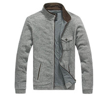Lesmart New Arrival font b Mens b font Jacket 100 Cotton Solid Mandarin Collar Fashion Business