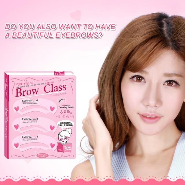 3Pcs Eye Makeup Thrush Card Threading A Word Eyebrow Makeup Tools Artifact Thrush Aid Card Eyebrows Mold Cosmetic New 5