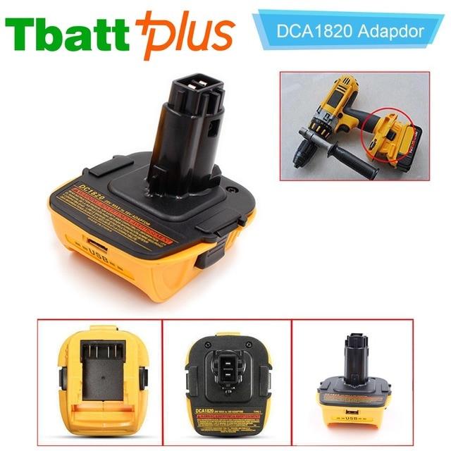 Tbattplus Dca1820 Battery Adapter For Dewalt 18v Tool Convert 20v Lithium Ion Dc9096 Dc9098 De9096 18 Volt