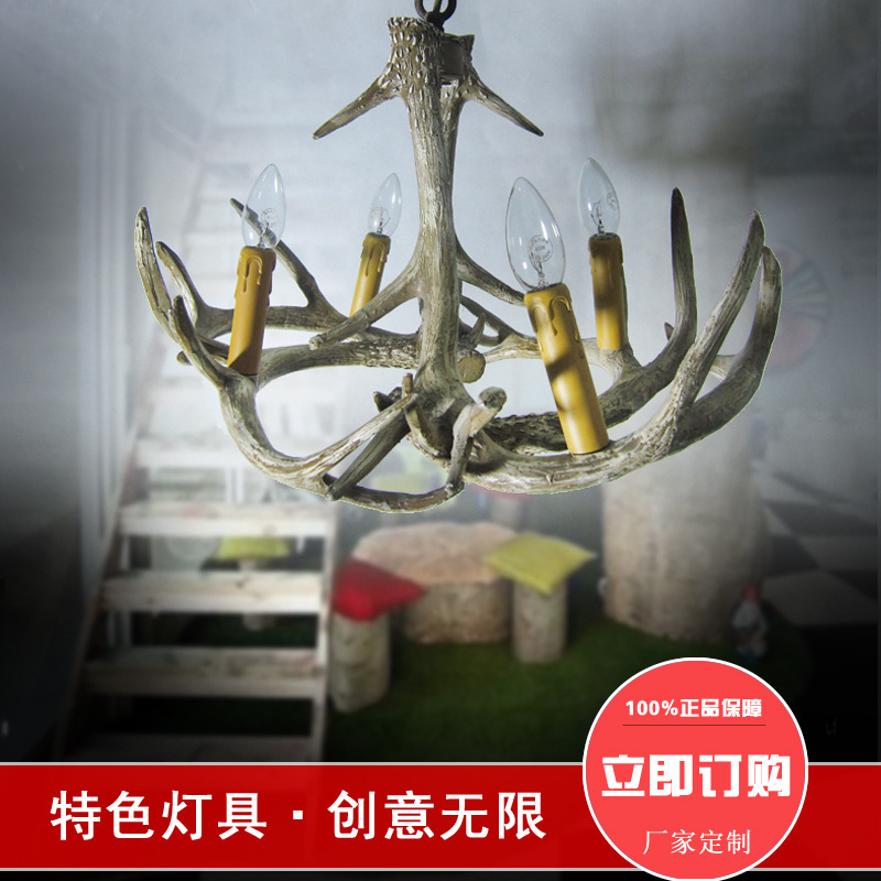 Antlers modeling lights European and American decorative chandelier light 2017 spring long sleeve man